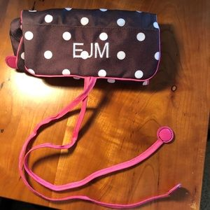 monogrammed travel jewelry holder